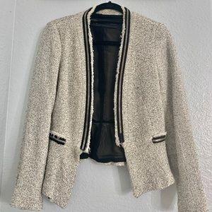 Beige wool ZARA jacket with blazer style